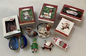 Lot of 6 Vintage Hallmark Keepsake Christmas Ornaments Good Condition
