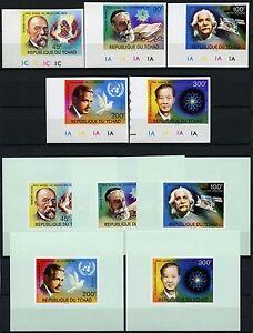 Space-Raumfahrt-1976-Tschad-Chad-Nobelpreis-Koch-763-767-U-Deluxe-Imperf-1272
