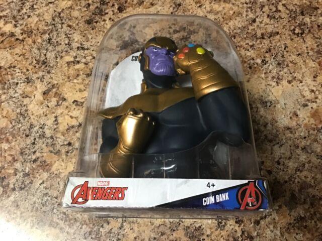 "Marvel Avengers Thanos Coin Bank 6/"" 3D Figure Walgreens 2019 NEUF"