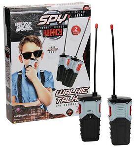 Kids Walkie Talkies Grafix Field Agent Spy Intelligence Agency Two Way Radios