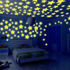 100PC Kids Bedroom Fluorescent Glow In The Dark Stars Moons Wall Sticker
