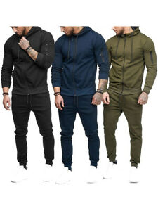 Pantalones Sudadera Hombre Completo Chandal Slim Moda Verde Militar Azul Negro Ebay