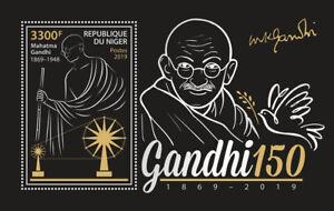 Niger-Famous-People-Stamps-2019-MNH-Mahatma-Gandhi-Historical-Figures-1v-M-S