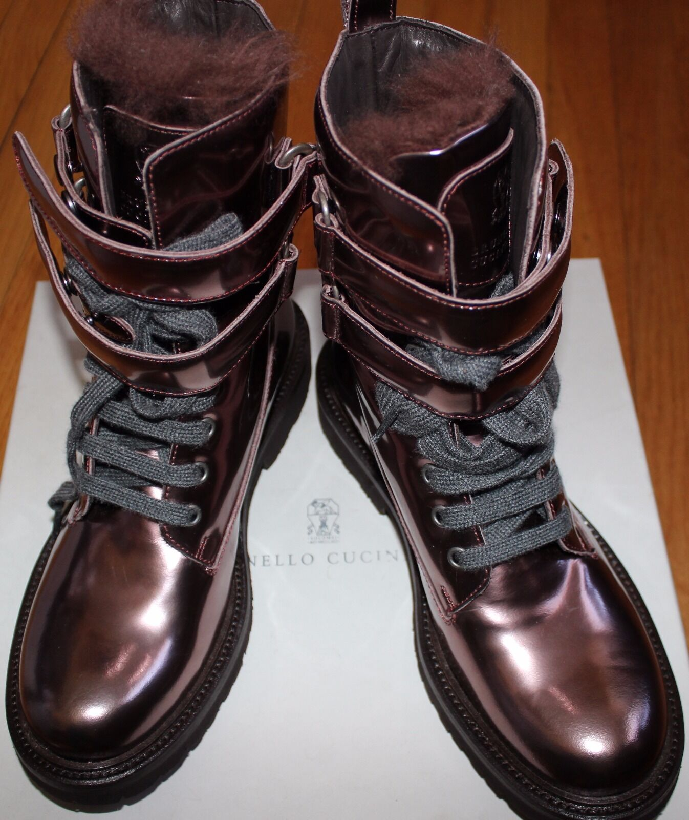 AUTHENTIC SZ  1630 BRUNELLO CUCINELLI METALLIC COPPER Stiefel SZ AUTHENTIC 37 EU/ 7 US 0d69f7