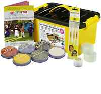 SNAZAROO PROFESSIONAL 300 FACE BODY PAINT STARTER KIT PAINTING GUIDE INC BRUSHES