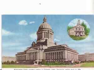 WWII Postcard Servicemen Olympia Washington State Progress Commission Unused