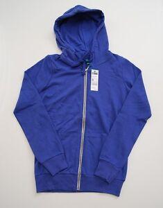Women's United Colors of Benetton blue hooded sweatshirt $33 tag size medium NWT