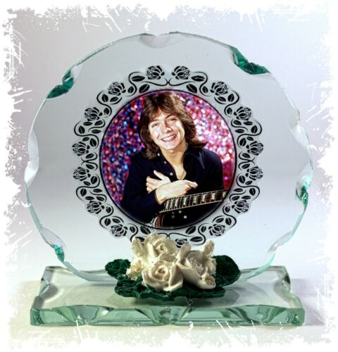 David Cassidy Cut Glass Round Plaque Valentine  Edition #1 I Write The Songs