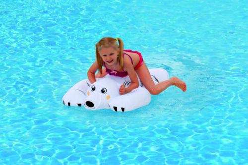 Reittier Eisbär aufblasbares Schwimmtier 110 x 71 x 34 cm Reittier Aufblastier