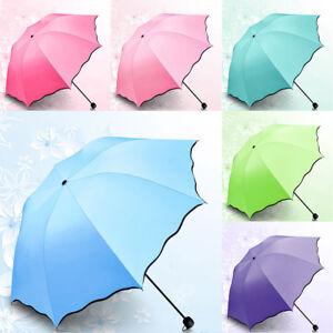 upf 50 anti uv 3 foldable parasol sun rain umbrella. Black Bedroom Furniture Sets. Home Design Ideas