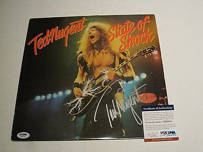 Ted Nugent Autographed State Of Shock Vinyl Lp Psadna # X50114 Durable Modeling Records
