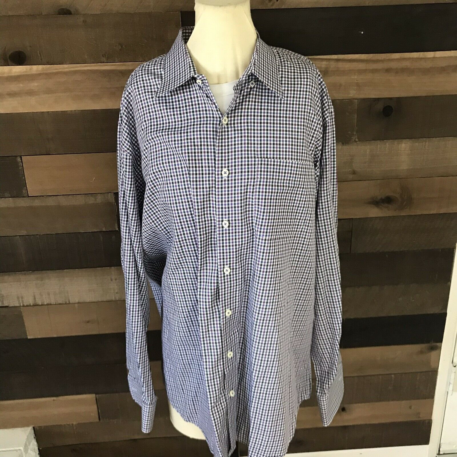 Peter Millar plaid dress shirt XL 100% Cotton