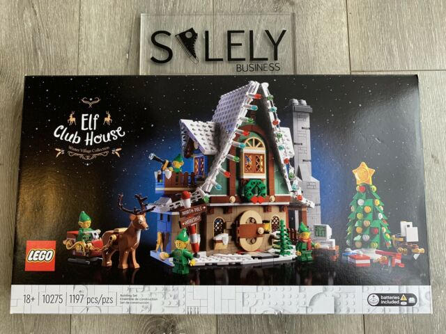 LEGO Elf Club House Building Kit 10275 Creator Winter Village Collection LTD ED