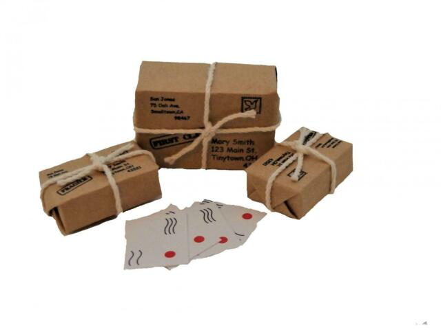 Melody Jane Dolls House Parcels & Letters 1:12 Scale Post Office Hall Accessory