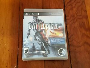 Sony-PS3-Battlefield-4-Video-Game-Disc-Case-Manual-Cleaned-and-Tested