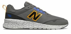 New Balance Men's Fresh Foam 515 Sport v2 Shoes Grey with Yellow & Blue