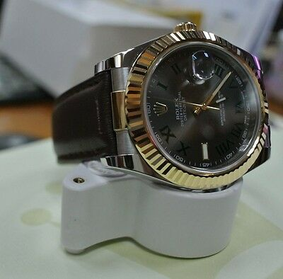 CUSTOM STRAP END LINK FOR ROLEX DATE JUST 41mm 126333\u0026 126334 Fits leather  strap