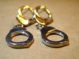 Motorcycle Earrings Handcuff Dangles