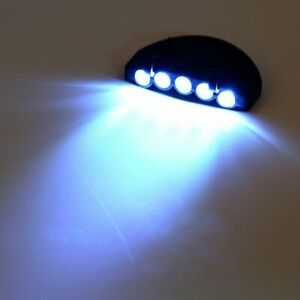 Clip-On-5-LED-Head-Lights-Lamp-Cap-Hat-Camping-Torch-with-Clip-Hand-Free-O843-TT