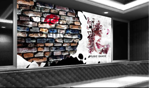 Papel Pintado Mural De Vellón Cartel De Piedra Musical 2 Paisaje Fondo Pansize