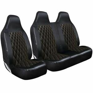MK7 DOUBLE FORD TRANSIT - VAN SEAT COVERS LEATHER DELUXE HEAVY DUTY SINGLE