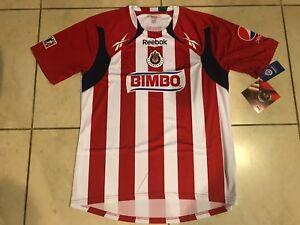 7fece2798 Image is loading Chivas-de-Guadalajara-Reebok-jersey -Autentica-Nueva-Version-