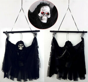 Halloween-Animated-Voice-Control-Skull-Ghost-Decor-Party-Haunted-House-Ornament