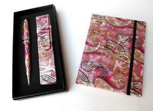 Ladies Pen & Journal Set-PINK REFILLABLE with CRYSTALS & MATCHING POUCH in a BOX u1NgxOEH-09163517-856042234