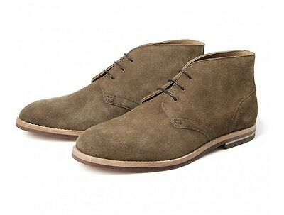 H For Hudson Houghton Iii Suede Tobacco Boot Brown Leather Chukka Shoes Rabatte Verkauf
