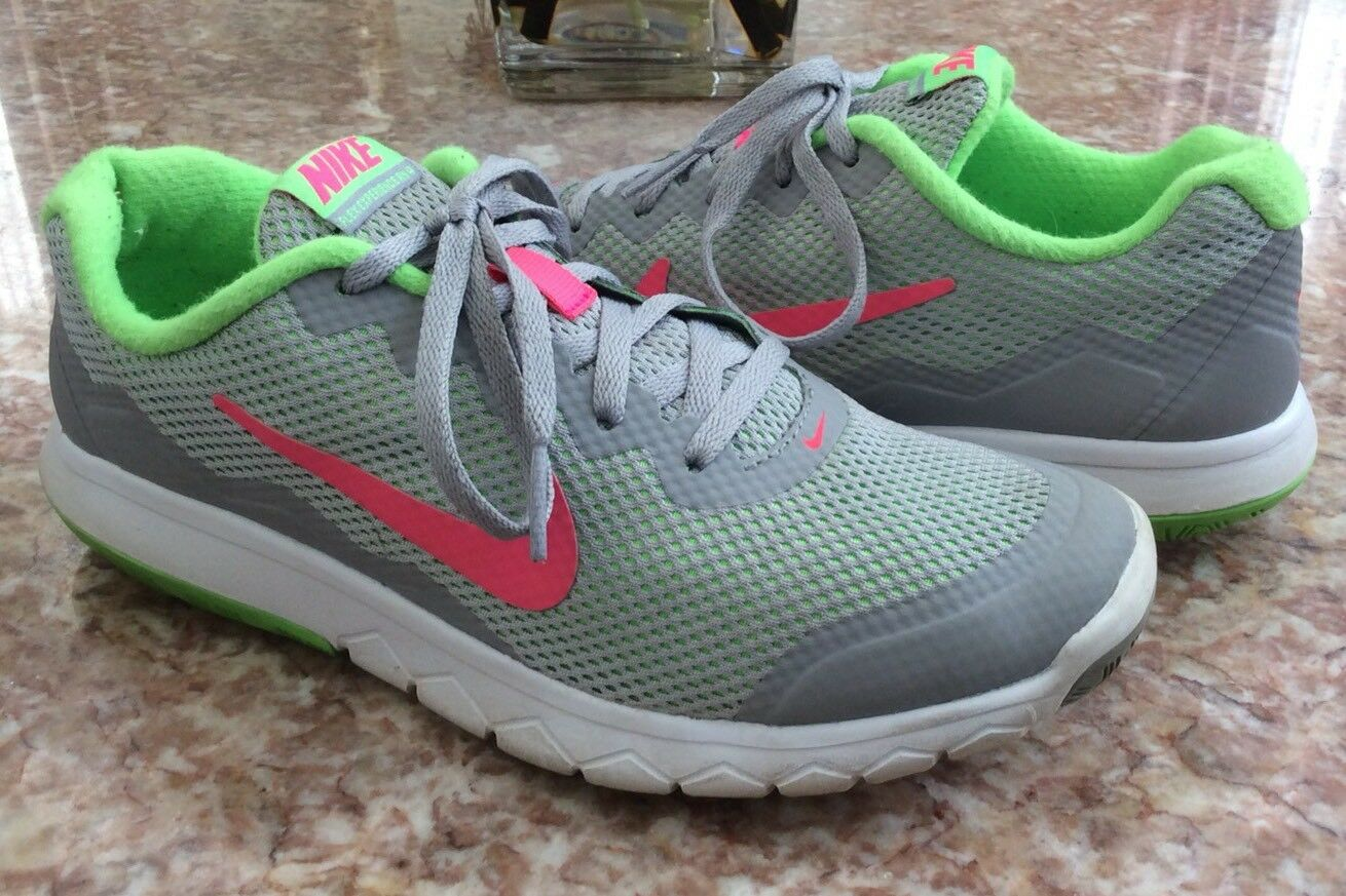 Nike Flex Experience Rn 4 Women's Gray/Pink/Grn Running Shoes Sz 6.5  Wild casual shoes