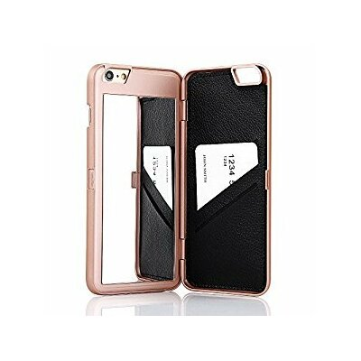 ROSE GOLD WALLET MIRROR Bling Cute Cell Phone Case Holder For i PHONE 7 7S PLUS