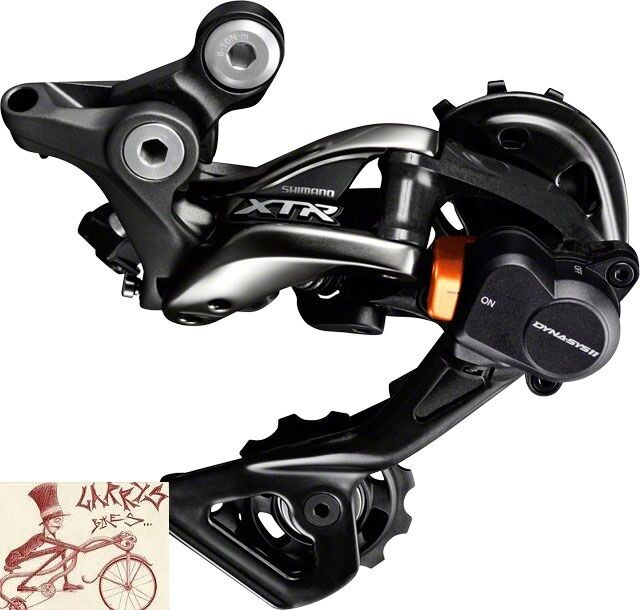 Shimano Xtr m9000-gs 11-speed Sombra + medio Jaula Mtb Trasero Bicicletas desviador