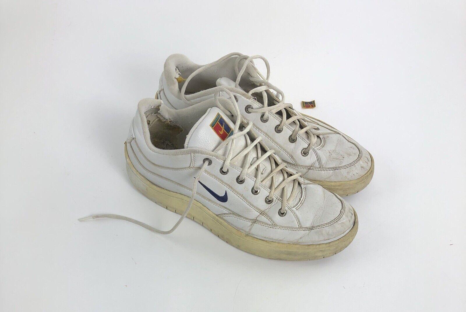 8c82c89f837f Vintage 90s Nike Tennis Court Court Court Challenge Agassi Sneakers shoes  Sz 12 5b4de3