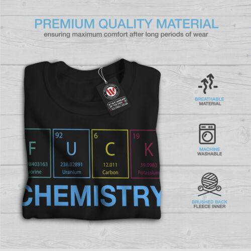 Hombre Geek Negro Nuevo Sudadera Funny Chemistry Nerd qCRwx7n0If