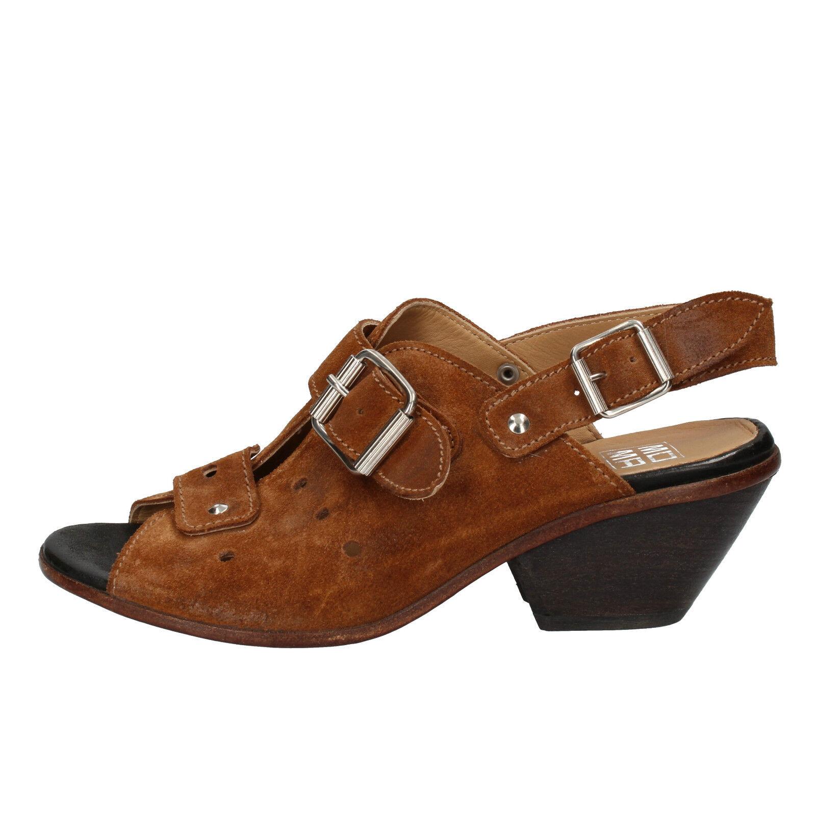 Damen schuhe MOMA 37 EU sandalen braun wildleder AD158-B