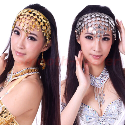 Chic Belly Dance Hair Band  Costume Dancing Coin Sequins Headbands