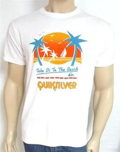 Image Is Loading Quiksilver Take It To The Beach Graphic Tee