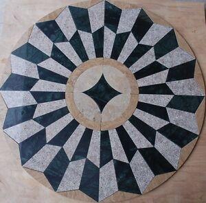 Marble Travertine Tile Medallion Design