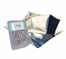 (5) 1 Gallon Mylar Foil Bags + (10) 500cc Oxygen Absorbers Food Storage 10 x 14