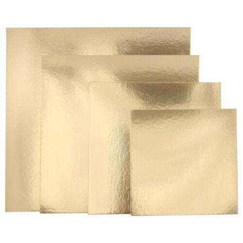 FunCakes Cake Boards Tortenunterlage quadtratische Tortenplatte silber//gold 3Stk