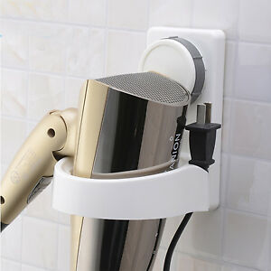 saugnapf haartrocknerhalter f nhalter wandhalter f nhalterung ablage ohne bohren ebay. Black Bedroom Furniture Sets. Home Design Ideas