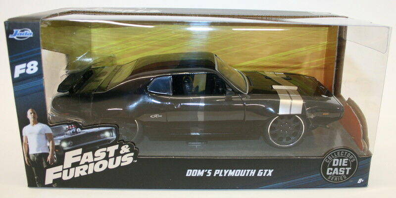 Jada 98292 - 1 24 Scale Model Car Fast & Furious - Dom's Plymouth GTX