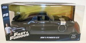 Jada-98292-1-24-Scale-Model-Car-Fast-amp-Furious-Dom-039-s-Plymouth-GTX