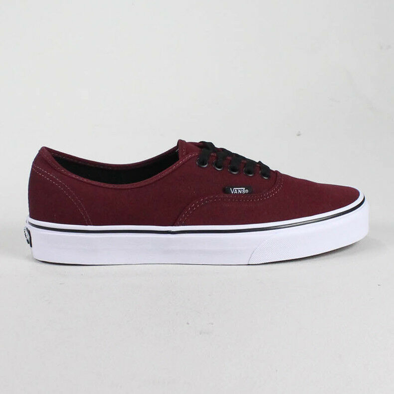 Vans Authentic Trainers Maroon Brand New in box UK Größes 4,5,6,7,8,9,10,11