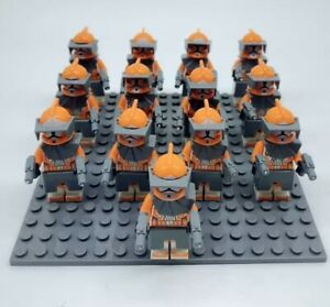 13x-Bomb-Squad-Orange-Clone-Trooper-Mini-Figures-LEGO-STAR-WARS-Compatible