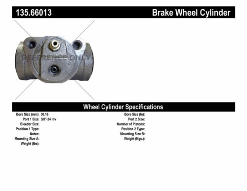 Drum Brake Wheel Cylinder-C-TEK Standard Wheel Cylinder Rear Centric 135.66013