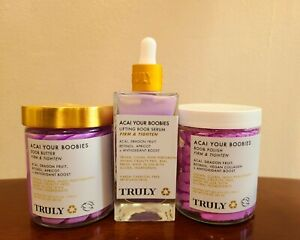 Truly Beauty Acai Your Boobies Trio *brand New* Firm And Tighten