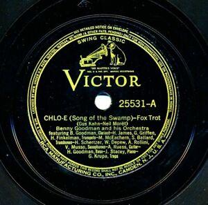 BENNY-GOODMAN-Orchestra-and-Quartet-on-E-E-1937-Victor-25531-Chlo-E-Ida