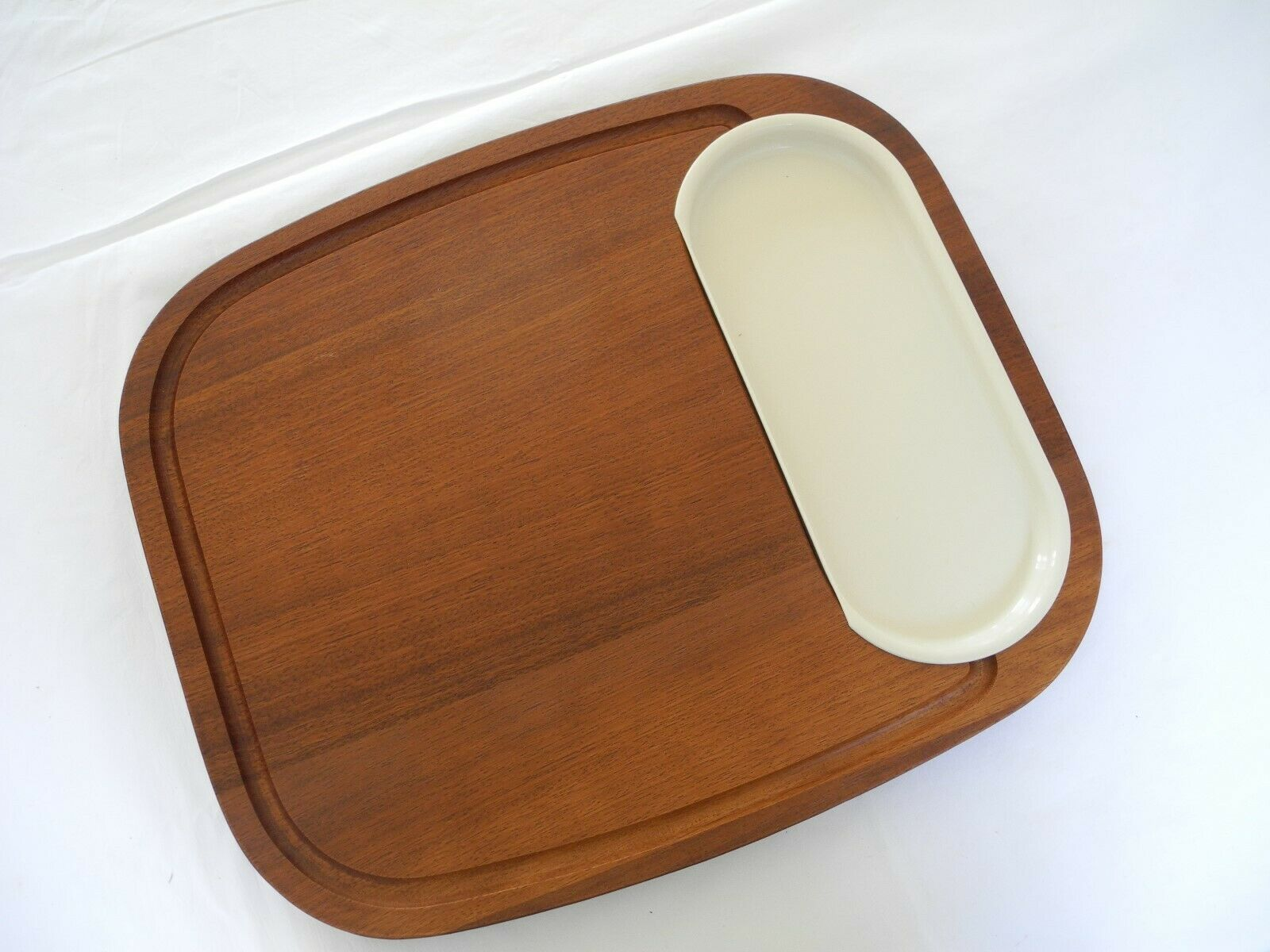 blanc CHOPPING BOARD PLATTER HORS DOURVRES NIBBLES CHEESE SALAD SERVING  DINING