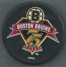 Boston Bruins  75 Years Anniversary  Souvenir Hockey Puck - In a square Holder